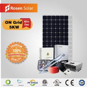 Rosen 5kw de energía solar de la Red del Sistema Solar con el inversor Growatt
