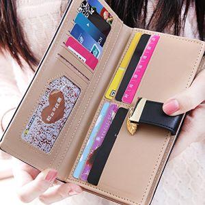 Femme de haute qualité à long Wallet Hot Sale Fashion Lady Wallet fille Purse large portefeuille en cuir élégant PU