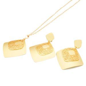 Praça de electroforese Electroplate & Gold & Mate oco de ouro das jóias de definir