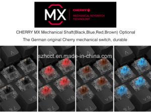 까만 버찌 Mx 또는 파랑 또는 빨강 또는 브라운에 의하여 타전되는 Backlit RGB 기계적인 도박 키보드 (HGK104)