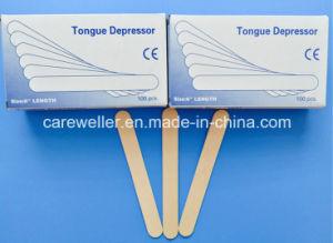 医学の使い捨て可能なシラカバ木舌圧子/木の舌圧子