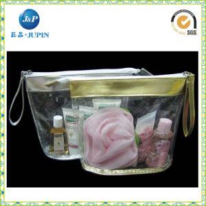 ジッパー(JPplastic033)が付いている卸売の透過ゆとりPVCプラスチック装飾的な袋