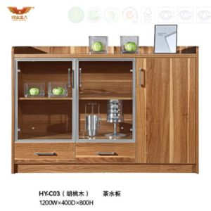 По современному версия Office чай шкаф со стеклянными дверями (HY-C03)