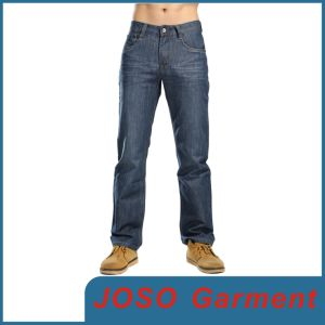 Les hommes polyester coton stretch tissu Denim Jeans (JC3056)