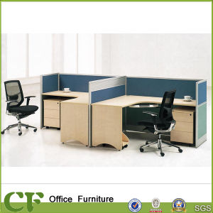 二重シートの木のオフィス表最もよいワークステーションラップトップ