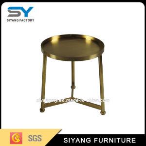 Design de luxo Rose Golden tabela final em aço inoxidável