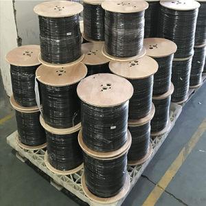 CATVの有線通信ケーブル18AWG CCS 85%の適用範囲のためのクォード盾RG6の同軸ケーブル