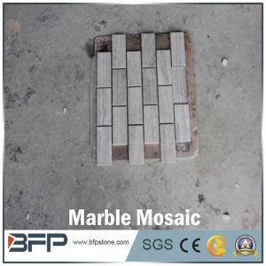 Natürliches weißes Marmorpoliermosaik für Innenfußboden-Entwurf