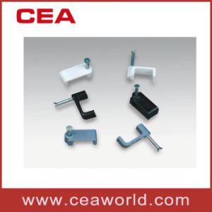 Klem van de Houder van de Kabel van de Klemmen van de Kabel van de cirkel (de vlakke) (ronde kabelklemmen), de Ronde Vlakke Klem van de Kabel met de Spijker van het Staal, Ware grootten 3.5mm tot 40mm