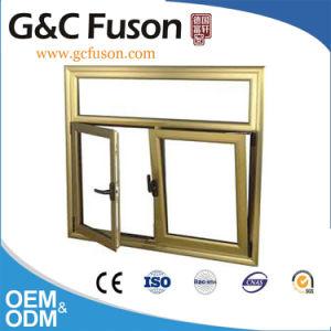 Estilo europeu em alumínio cor branca na janela de abertura e fechamento de PVC com grelhados