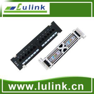 24 Portänderung- am objektprogrammpanel-Kabel-Management mit 6A UTP Baugruppe