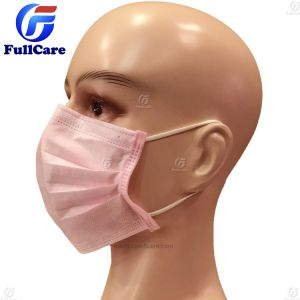 مستهلكة [نونووفن] لون قرنفل [س] [فس مسك] طبّيّ جراحيّة مع [إرلووبس]