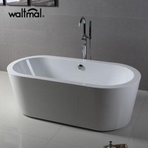 La vanité de l'Art Libre acrylique permanent baignoire ovale