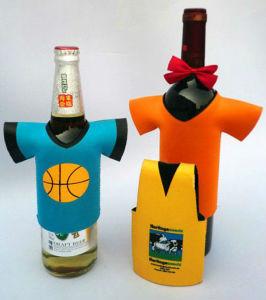 ネオプレンの漫画デザイン水酒飲みのホールダーのクーラーのびん袋