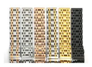 Nieuw Roestvrij staal 7 Riem 14mm van de Band van het Horloge van Parels High-End van de band van het Horloge van 16 18 19 20 21 22 24 26mm de Klassieke Manchet van Men&Women