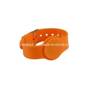 Braccialetto passivo del Wristband/RFID del chip RFID di frequenza ultraelevata di HF di Lf del silicone