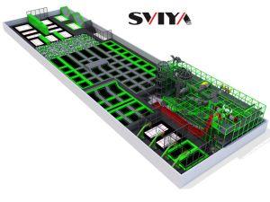 Sviya China Grande Piscina Trampolim Fabricante com Parkour e Pt1176 Parque infantil