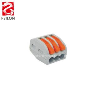 Pct-213 fabriqués en Chine remplacer 222-213 3voies compacte de l'écrou du levier de boîte de jonction connecteur rapide du connecteur de bloc de jonction de fil universel