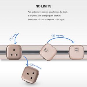 Q1 Interruptor de tipo Oculto Socket 2 portas USB Sala Tomadas de cozinha