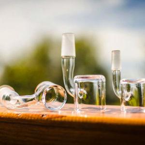 7mm de espesor del vidrio Banger masculina fumar pipa de agua Cubeta de cuarzo de uñas