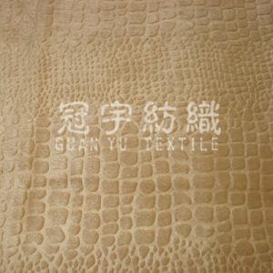 Veludo de poliéster em relevo a pilha curta tecido Sofá