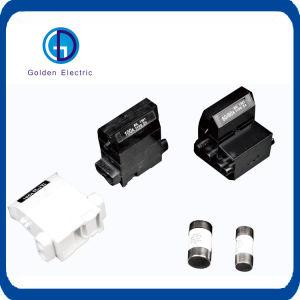 Plástico cilíndrico de montaje en carril DIN de baja tensión portafusibles para 10X38 14X51 22X58 el fusible