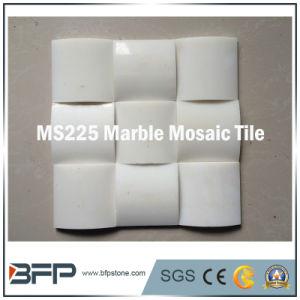 Wand-Dekoration-weißes Marmormosaik für Wand-Fliese und Umhüllung
