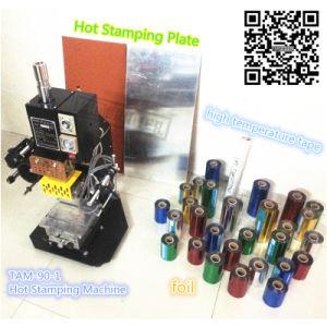 Tampa do livro de tiras a quente da máquina de carimbar em plástico de papel
