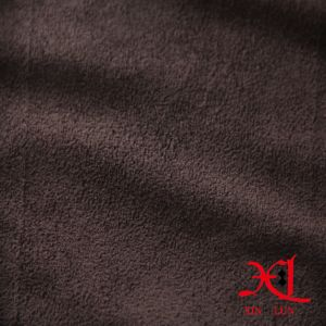 Poliéster de color marrón oscuro lado de tela de gamuza para ropa sofá/