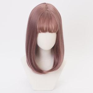 Comercio al por mayor Rosa recta peluca pelucas Lace Front cabello sintético resistente al calor que data de fibra pelucas