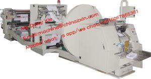 Saco de papel fazendo a máquina com 4 impressora colorida on-line