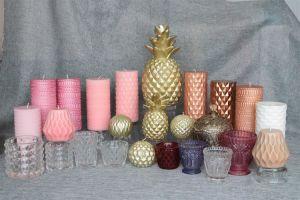 Ananás artesanais Velas com Golden Lacker para decoração