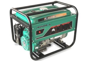 AC Single Phase、220VのJx6500A-6 5kw Highquality Gasoline Generator