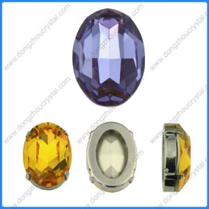 Gefacetteerd Ovaal Bergkristal voor de Toebehoren van het Kristal van de Schoen en van de Zak (DZ-3002)