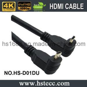 금에 의하여 도금되는 정각 마이크로 HDMI 유형 D 케이블