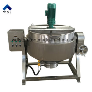 Caldaia rivestita riscaldamento elettrico/del gas verticale/POT di cottura industriale con il miscelatore/agitatore