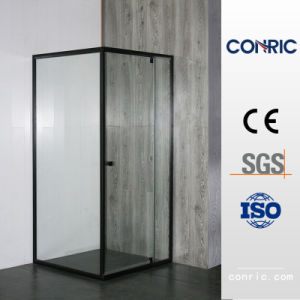 黒によって組み立てられるヒンジのドアの緩和されたガラスの調節可能なシャワー機構7305