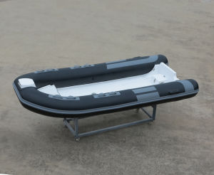 Aqualand 13pies rígidos Rib 4m Inflatablerescue Motor barco de pesca (400A)