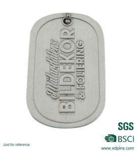 La impresión de metal personalizados par el aluminio Etiquetas de perro para promoción