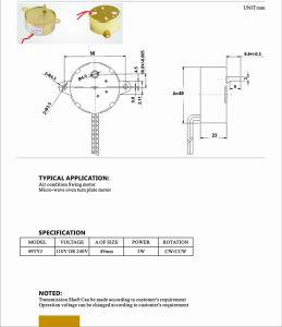 段階の照明または電気弁またはスマートな弁モーターのための220V AC彫版機械同期電動機