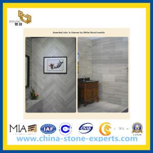 De natuurlijke Opgepoetste Witte Houten Marmeren Tegel van de Steen voor Bevloering/Muur (YY - MTS001)