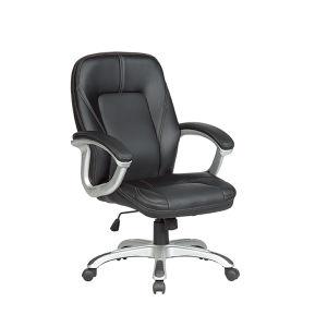 Commercial Chair (Fs8709b)快適な旋回装置ののどの革オフィスディレクター