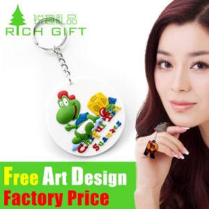 Anello portachiavi popolare poco costoso all'ingrosso di abitudine della macchina fotografica Metal/PVC del giocattolo dell'OEM