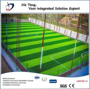 Todo profesional del diseño de césped sintético del sistema de archivado de Fútbol 5 personas.