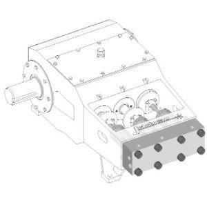 15000psi 190HP HochdruckUnx Bareshaft Pumpe