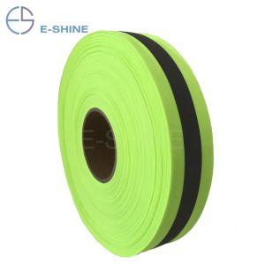 E-glans  Band van het Lint van de Singelband van de Kleur van Breedte 2 de Gele Zilveren Hoge Lichte Fluorescente Groene Weerspiegelende voor het Vest van de Veiligheid