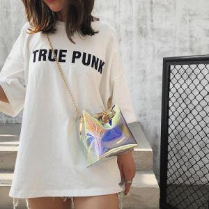 Conjunto de bolsas 2019 New Fashion PVC geleia clara cadeia transparente Meninas Verão Tipo Canhão Messenger Sacos de ombro