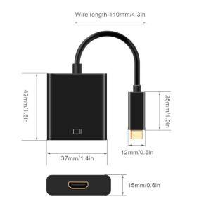 Câble USB de type C pour adaptateur HDMI vers HDMI Convertisseur USB 3.1
