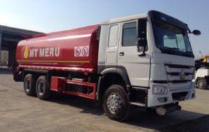 De Brandstof van de Capaciteit HOWO van Sinotruk HOWO 6X4 25m3/de Tank van het Vervoer van de Olie/de Vrachtwagen van de Tanker