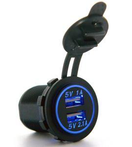12Vは自動車部品USBの充電器力のアダプターのアウトレット車のタバコのライターのソケットのディバイダーの二倍になる